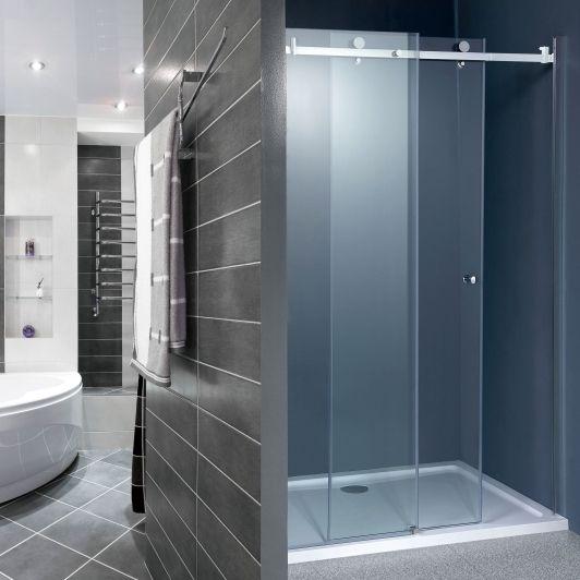 Karla Sliding Shower Door 1000mm Home And Garden Design Ideas Clean Shower Doors Bathroom Shower Doors Shower Doors