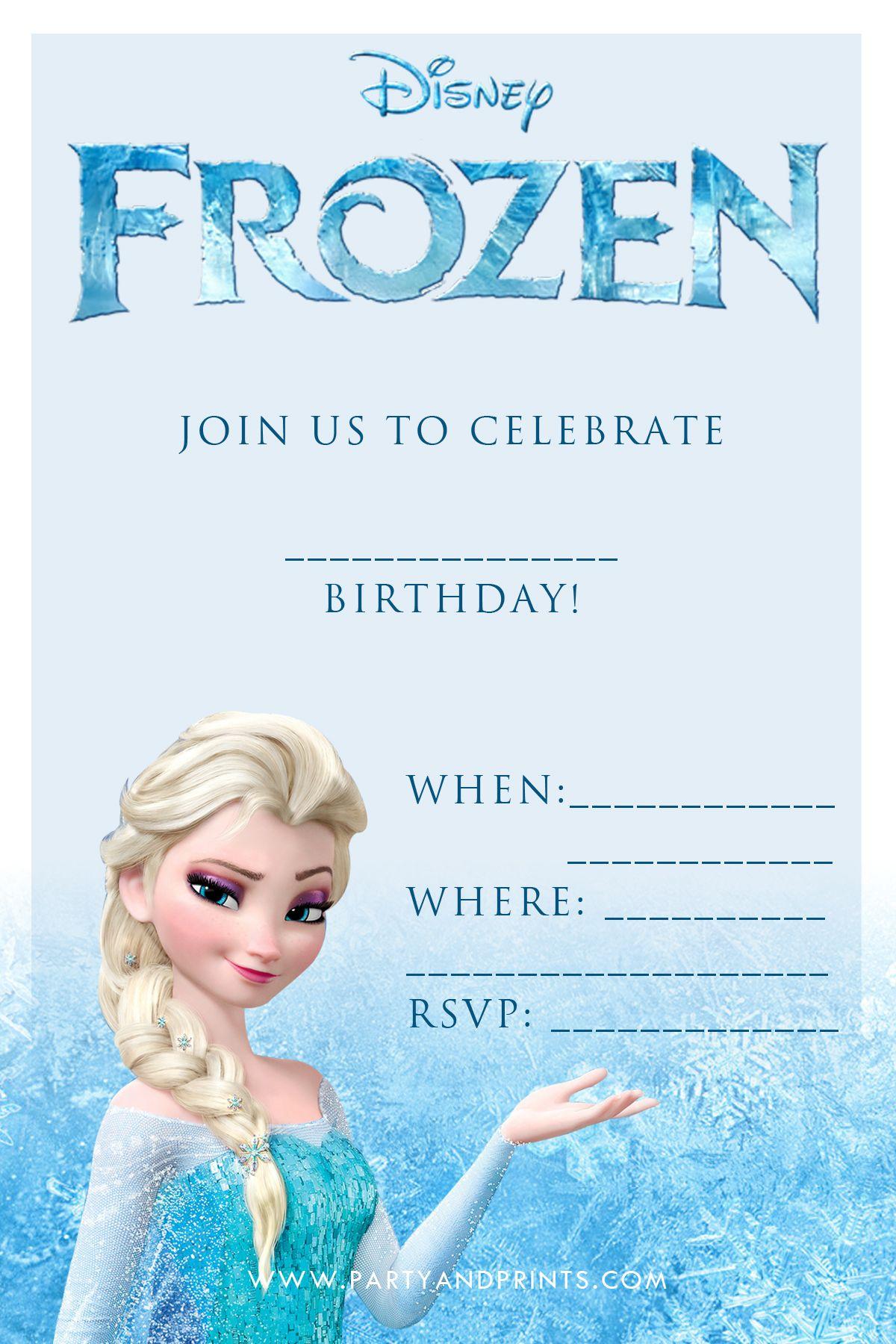 frozen birthday party invites
