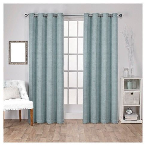 Virenze Faux Silk Window Curtain Panel Pair Exclusive Home