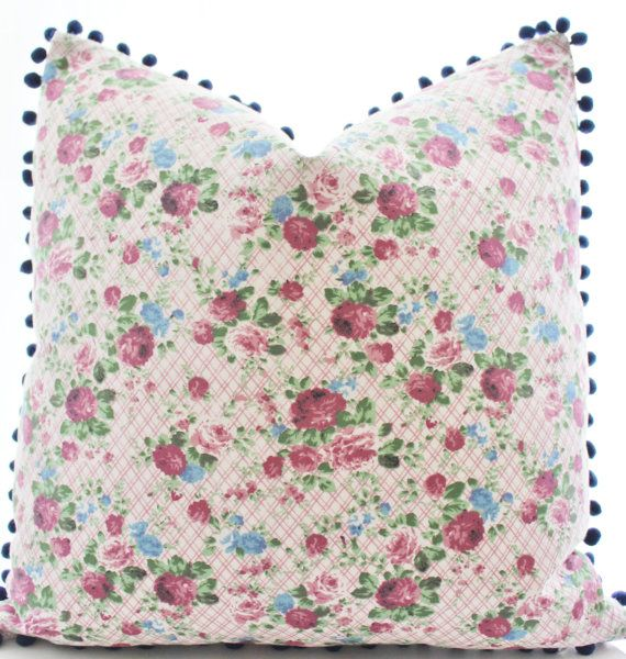 Indian Floral Print Textile Pillow Cover Ethnic by Boho Pillow #bohopillow