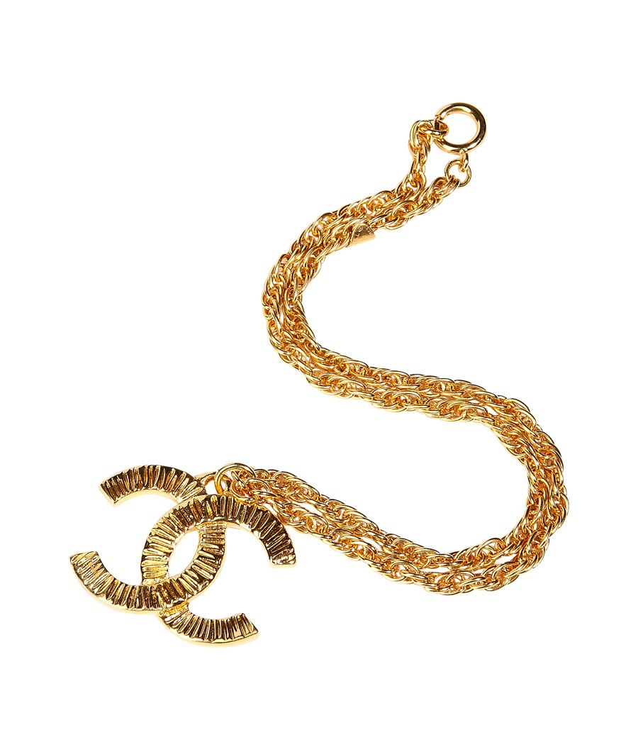 golden 80 s coco chanel pendant necklace estyleme woman s n