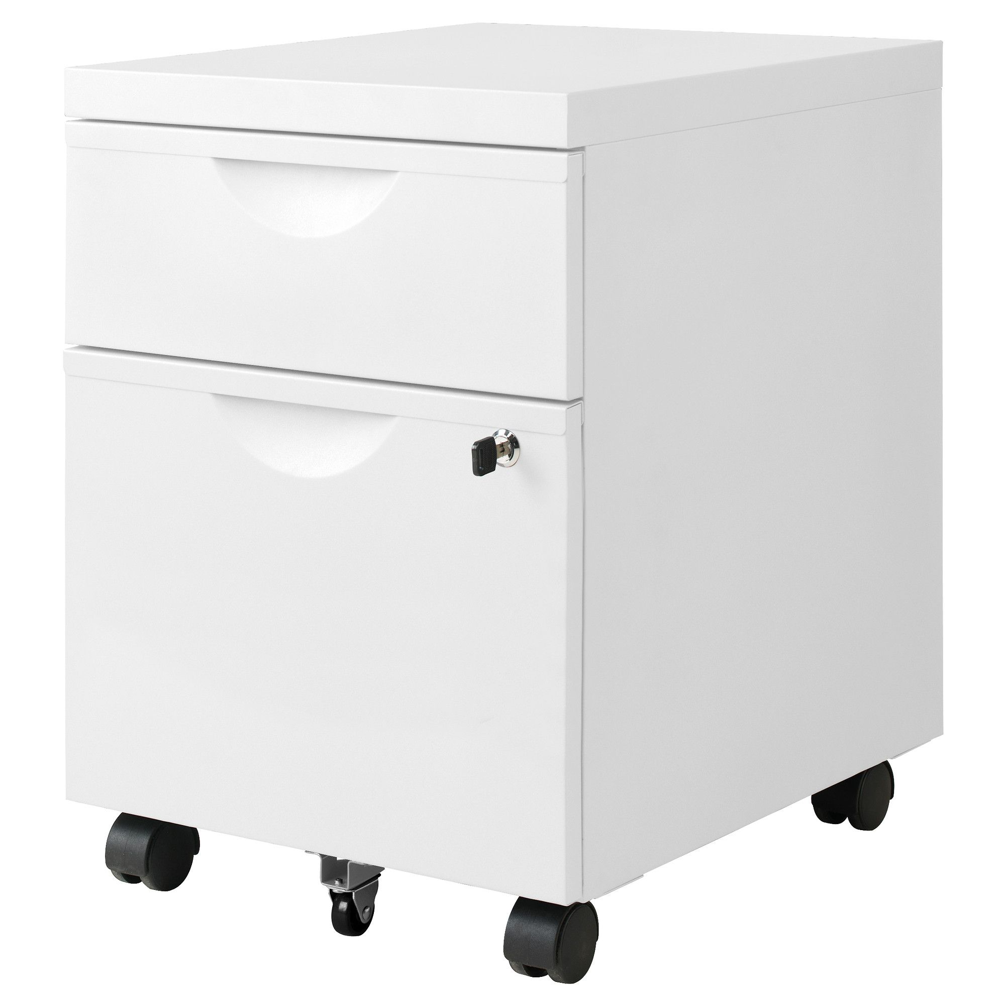 ERIK Drawer unit w 2 drawers on casters white