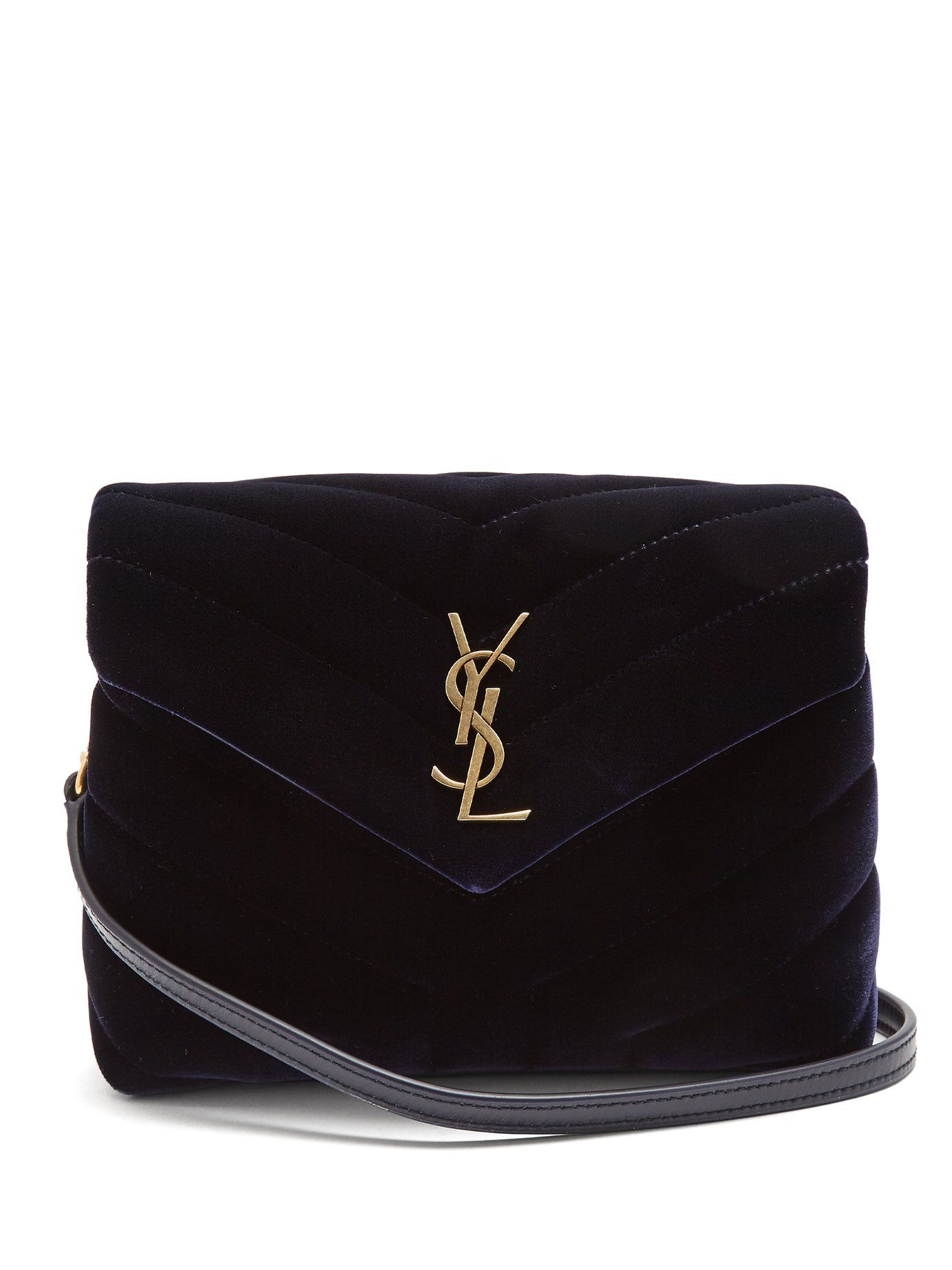 2407a9b2774c Click here to buy Saint Laurent Loulou Toy quilted-velvet cross-body bag at  MATCHESFASHION.COM