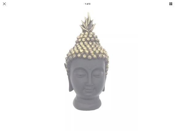 Lord Buddha Face Statue Showpiece Black Buddha Face Idol for Gifting and home Decor #buddhadecor