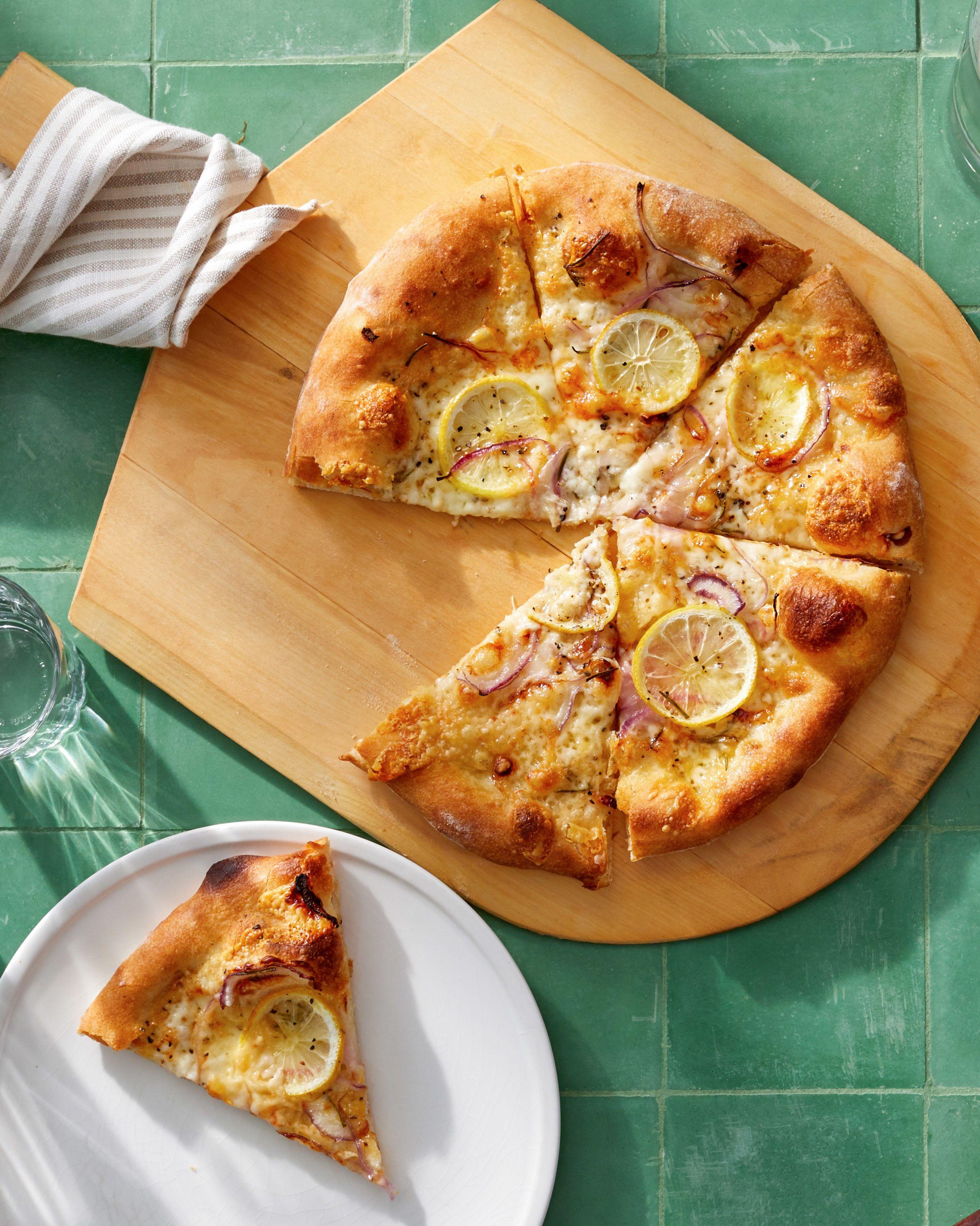 Lemon And Italian Cheese Pizza Recipe Recipe Lemon Pizza Recipes Food