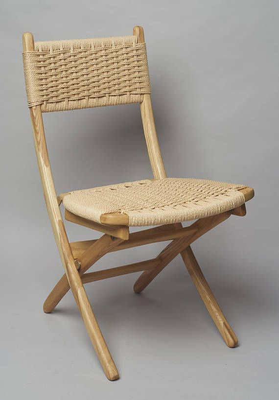 Fabulous Hans Wegner Style Folding Rope Chair Ash Wood Brum Caraccident5 Cool Chair Designs And Ideas Caraccident5Info