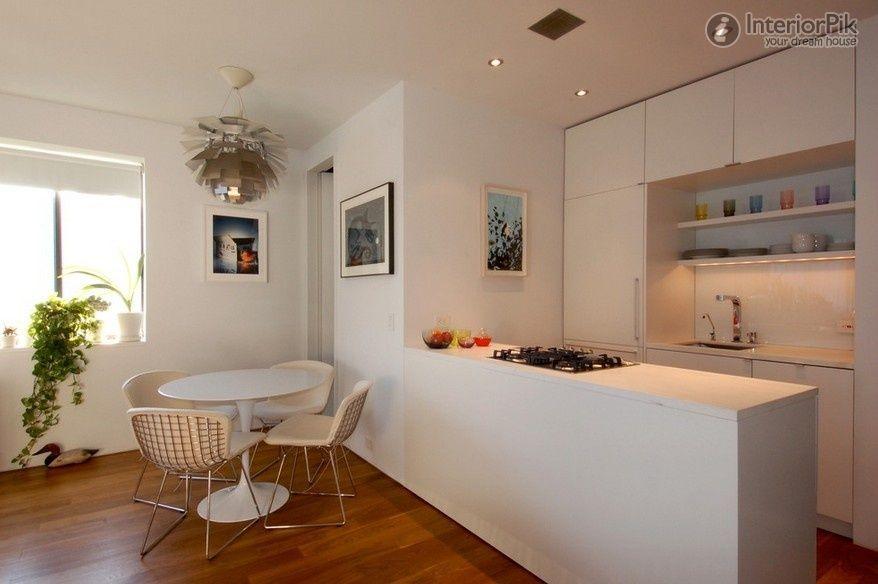 Unique Natural Small Apartment Semi Open Kitchen Renovation Renderings