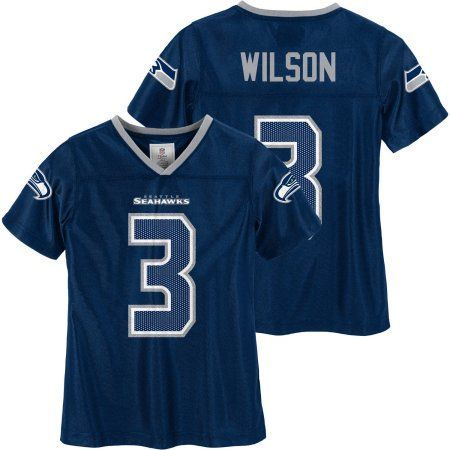 new arrivals 8c7f7 fcfcd NFL Seattle Seahawks Girls Russell Wilson Jersey, Size ...