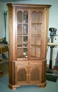 Free Corner China Cabinet Plans In Mahogany Unit Is 8 High