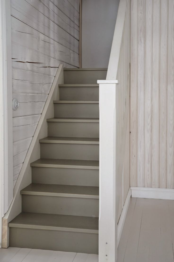 Lighting Basement Washroom Stairs: Light Grey Staircase Ideas
