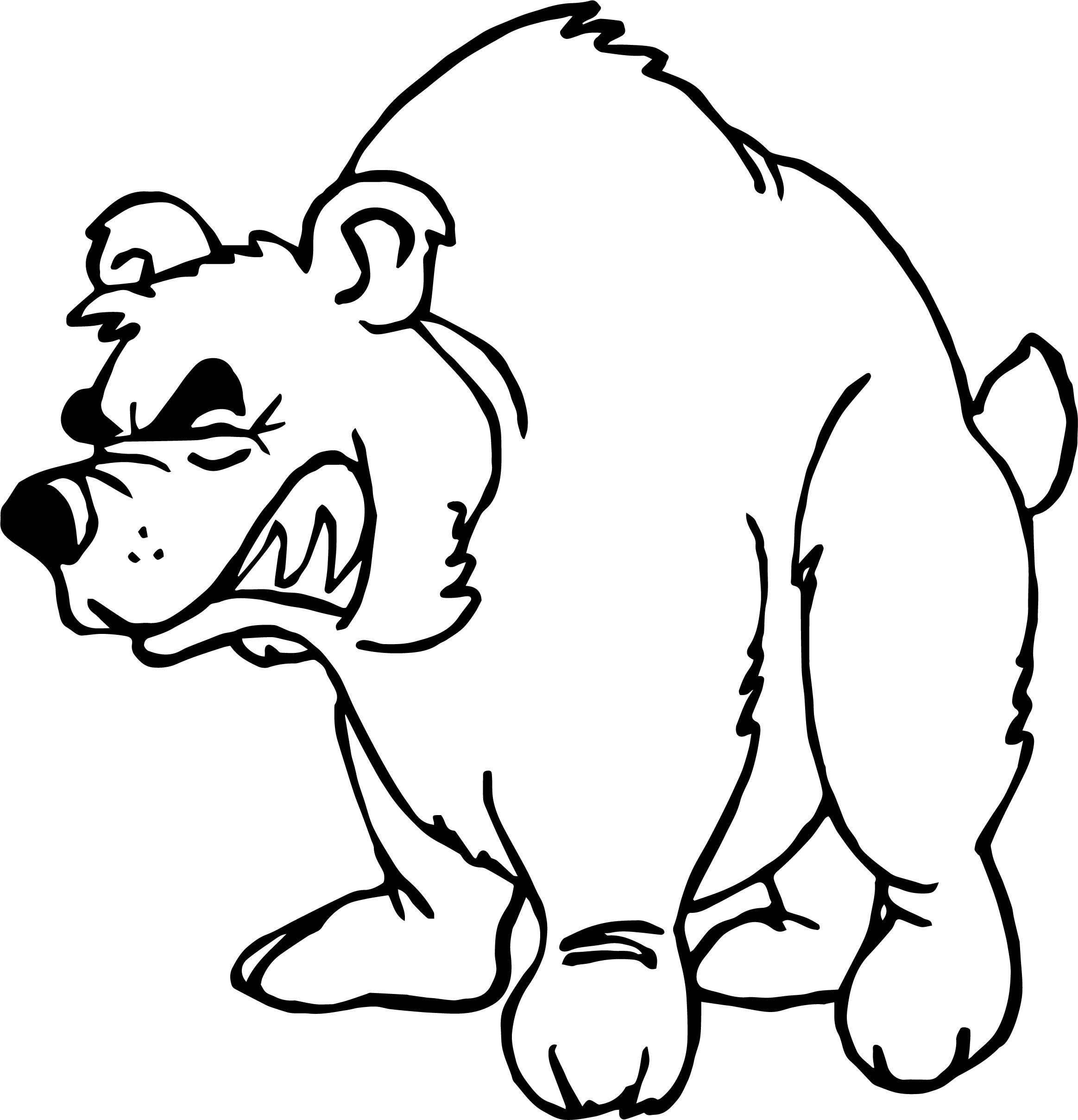 Awesome Angry Home Bear Coloring Page Panda Sketch Cartoon Sketches Bear Coloring Pages