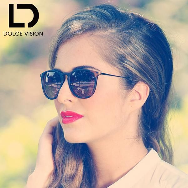#Fashion #BestPrice DOLCE VISION Luxury Brand Women Designer Gradient Mirror Lens Anti-Reflective Sunglasses UV400