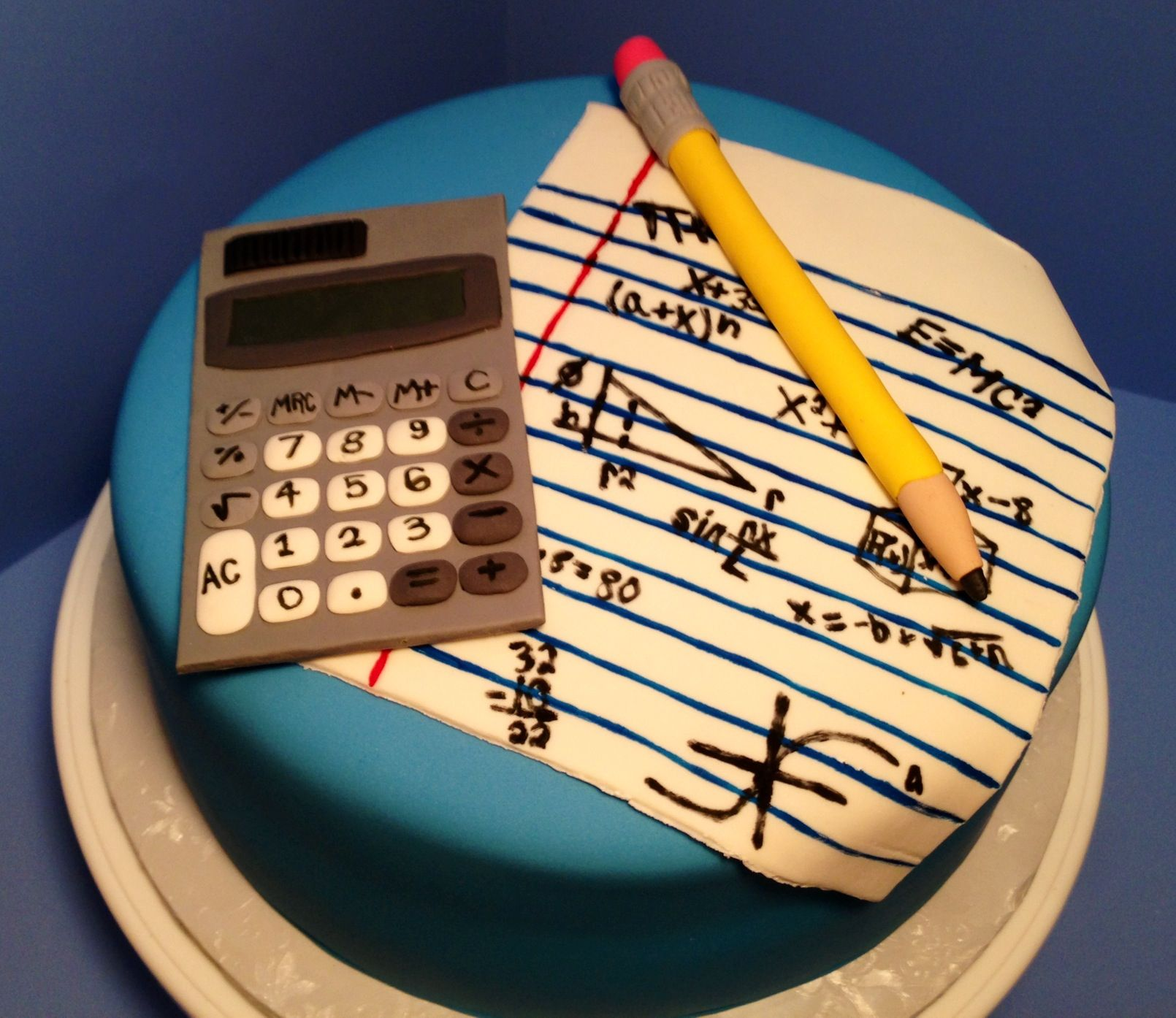 Math themed cake made by Scrumdiliumcious Cakes | Fondant ...