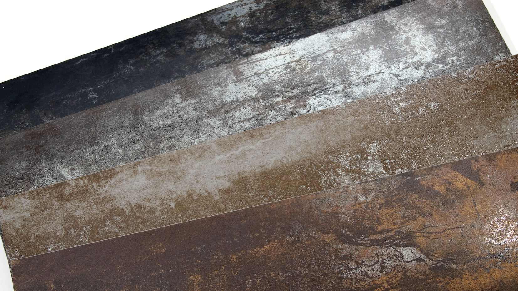 Rustic Glaze Metallic Porcelain Tile 4 Colors Tile