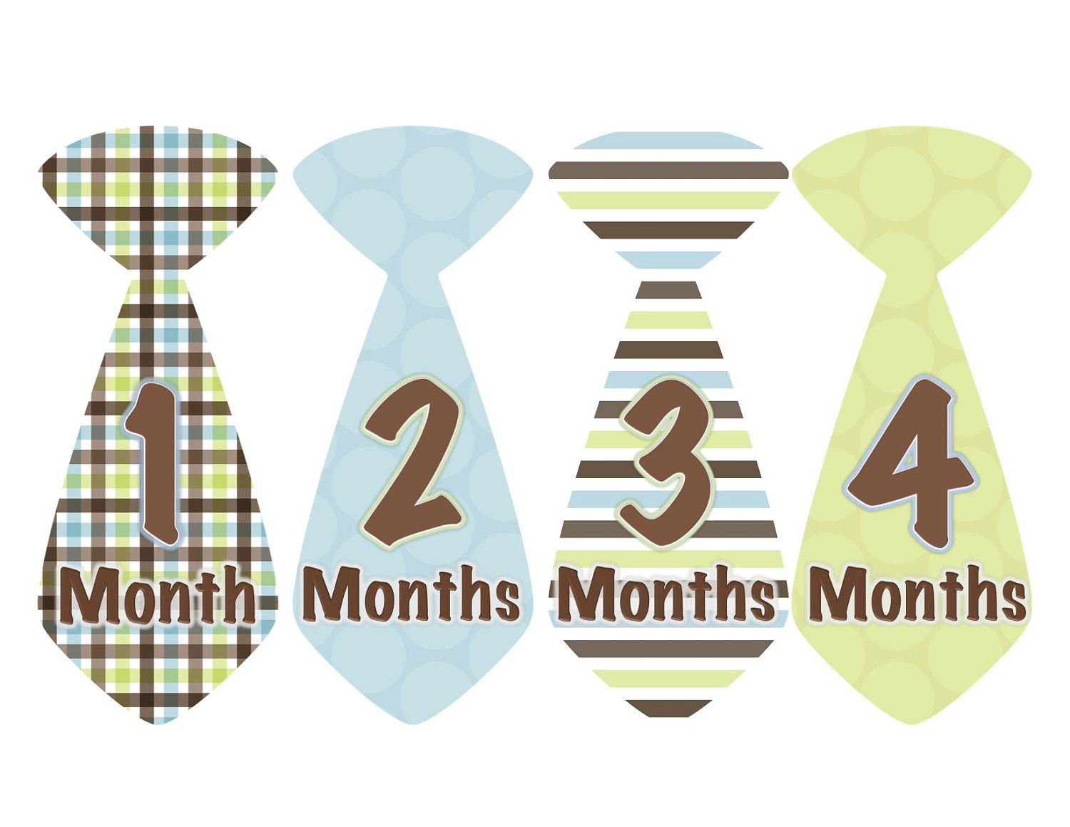 just bought these - Baby Boy Tie Monthly Stickers