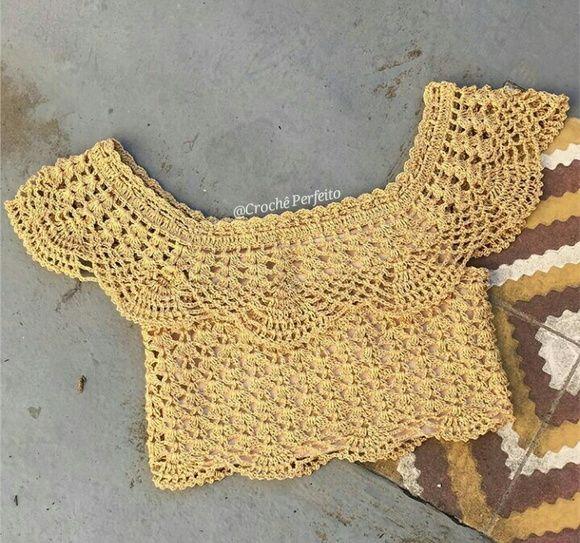 Top Cropped de Crochê Ciganinha | blusa. con patrón | Pinterest ...