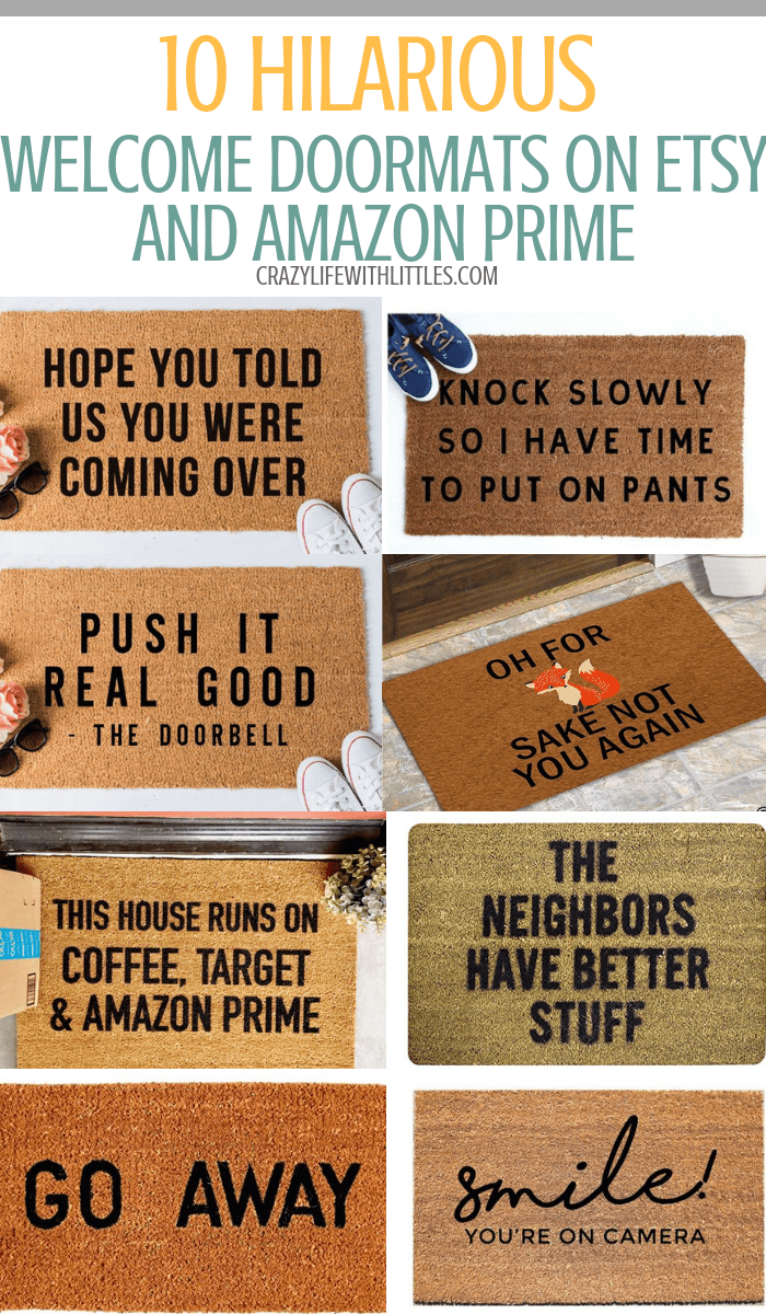10 Hilarious Welcome Door Mats On Etsy And Amazon Welcome Door Mats Funny Welcome Mat Door Mat Diy