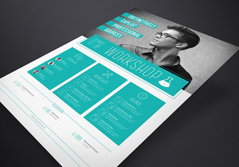 merveilleux Corporate Flyer Template: Workshopu003c