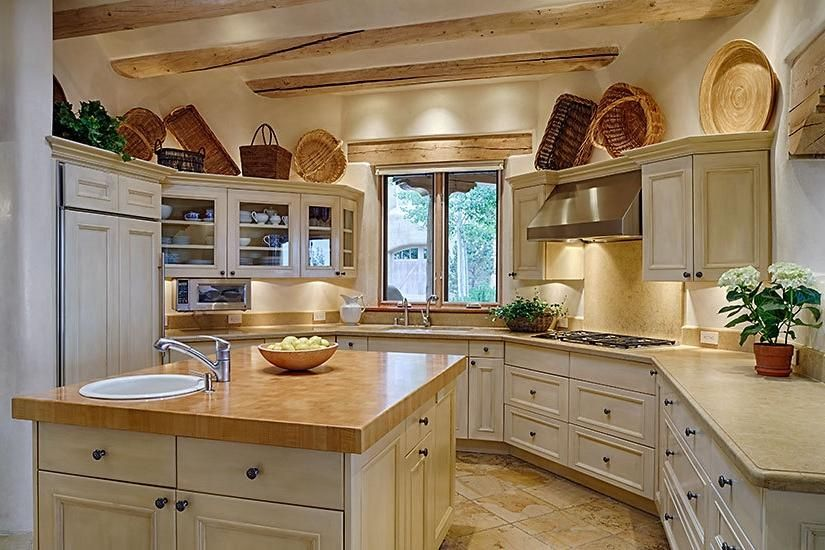 adobe - southwest style residential interior kitchen