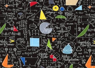 Math Equations Cotton Black Poster Bunga Fisika Buku Catatan Matematika