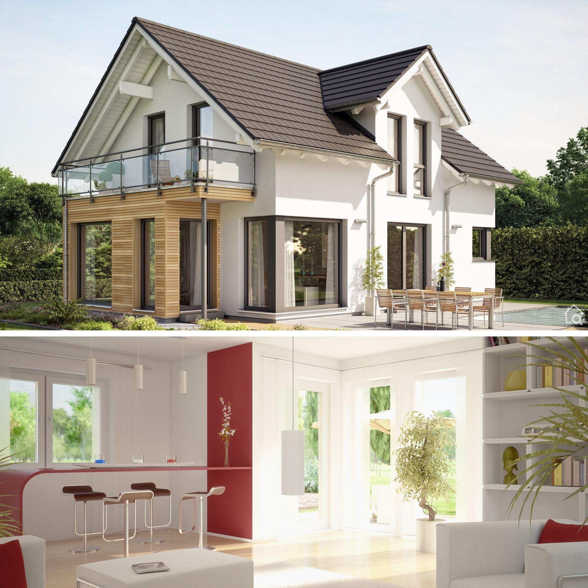 Modernes Haus Design mit Satteldach & Zwerchgiebel bauen