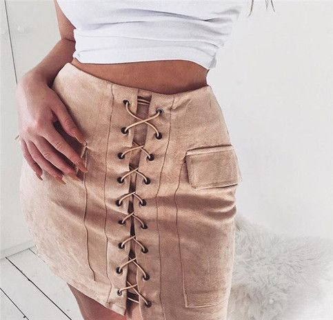 bd16989ee Lace up shirt ,short skirt from Little Cute in 2019 | Prom dress ...