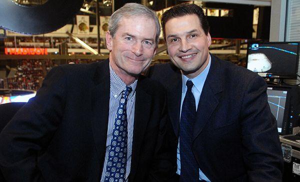 Blackhawks Extend Contract Of Pat Foley And Eddie Olczyk Chicago Blackhawks Hockey Blackhawks Chicago Sports Teams