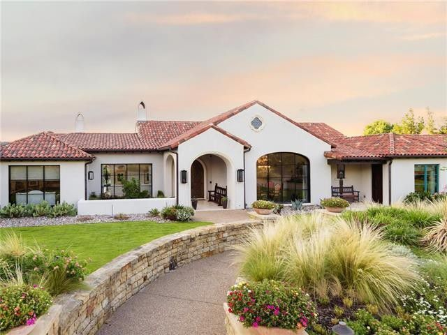 Single Story Spanish Style New Build Home Spanish Style Homes Mediterranean Homes Mediterranean Homes Exterior
