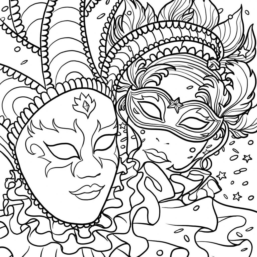 Free Printable Mardi Gras Coloring Pages For Kids Coloring Pages Coloring Pages For Kids Mardi Gras