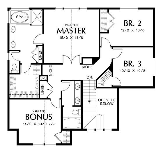 Digital Smart Draw Floor Plan With Smartdraw Software Craftsman Style House Plans House Plans Home Design Plans