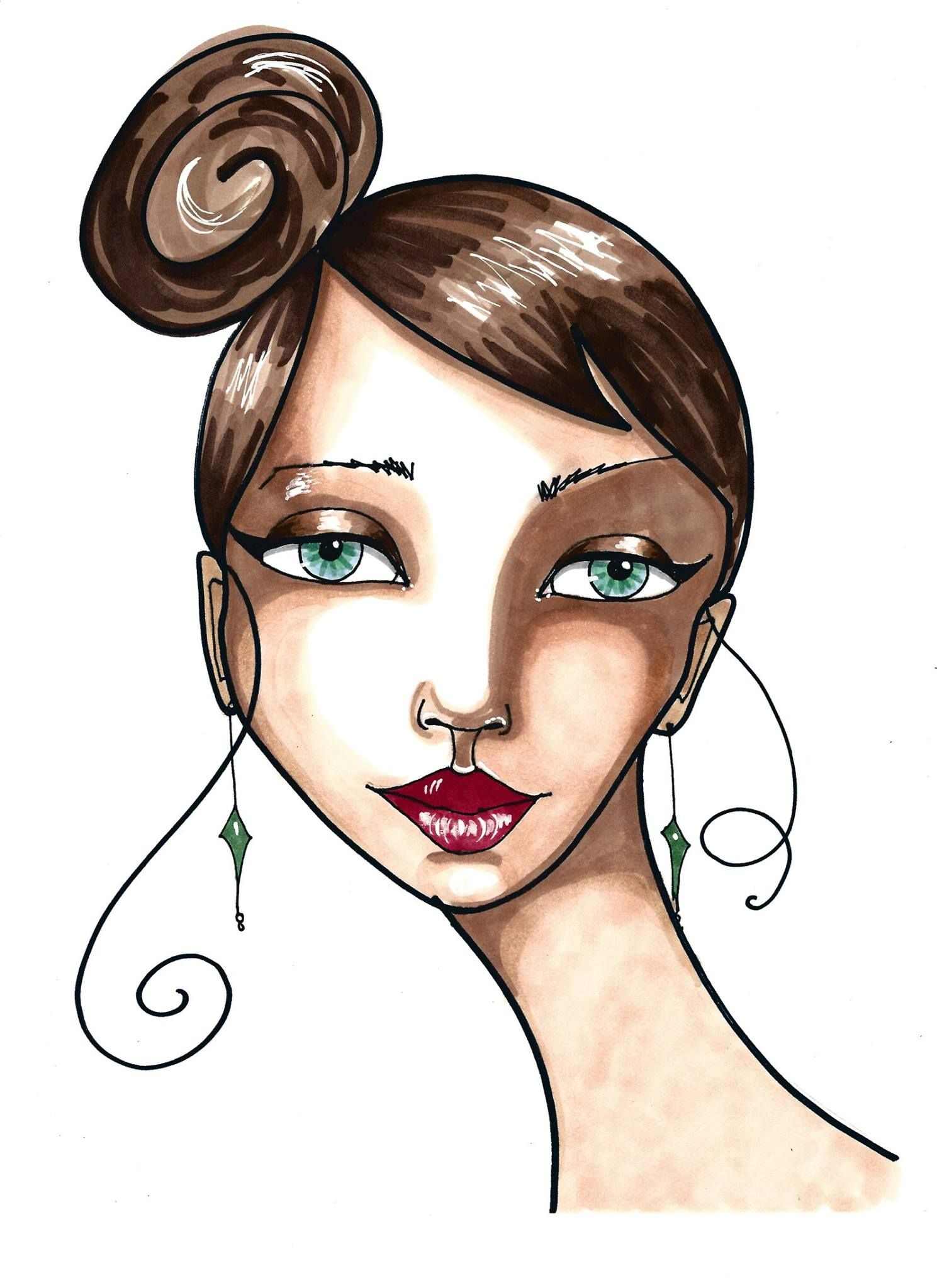 Marker illustration ecourse for beginners shading faces marker drawings marker art drawing with