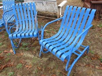 Vintage Metal Chairs And Retro Patio Tables - Vintage Gliders   Much ...