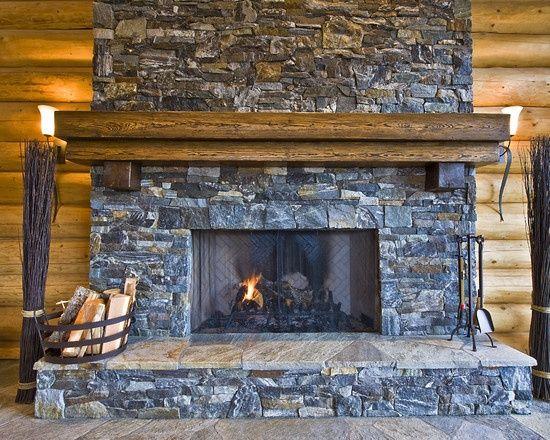Cabin Fireplace Mantels Mantel Every Log