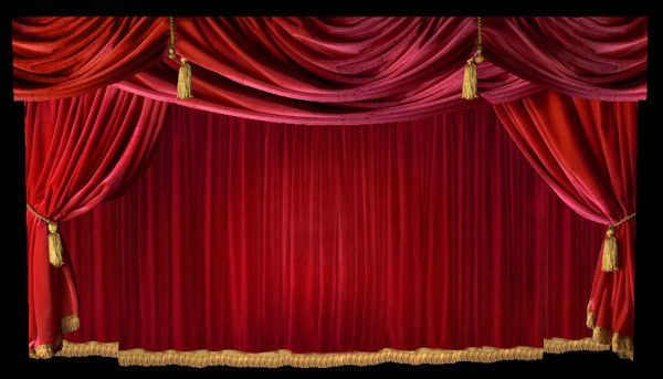 Free Personalizing! Theatre Stage Draperies Mouse Pad