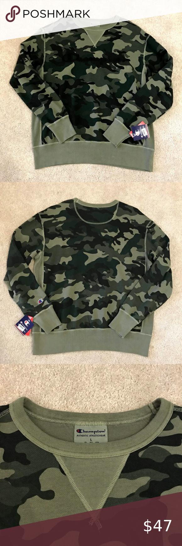 Camo Champion Sweatshirt Champion Sweatshirt Sweatshirts Sweaters [ 1740 x 580 Pixel ]
