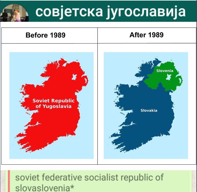 Soviet Yugoslavia according to Joy Reid : imaginarymaps