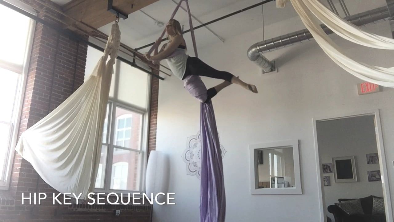 Hip Key Sequence | Aerial fitness, Aerial yoga, Yoga girl