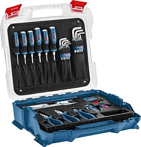 Bosch Professional 1600a016bw Set D Outillage A Main De 40 Pieces En Malette Outils Bosch Outils Laveur De Vitre