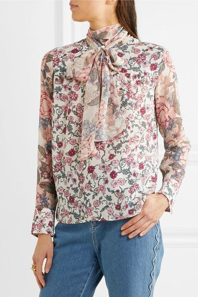 Extremely Cheap Online Womens Floral Georgette Blouse Chloé Clearance Hot Sale lz9CR