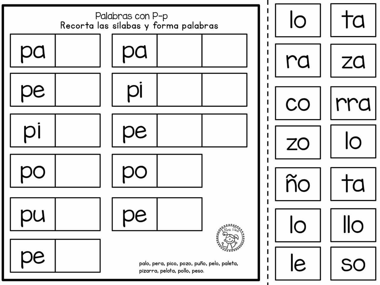 Silabas En Espanol Worksheet