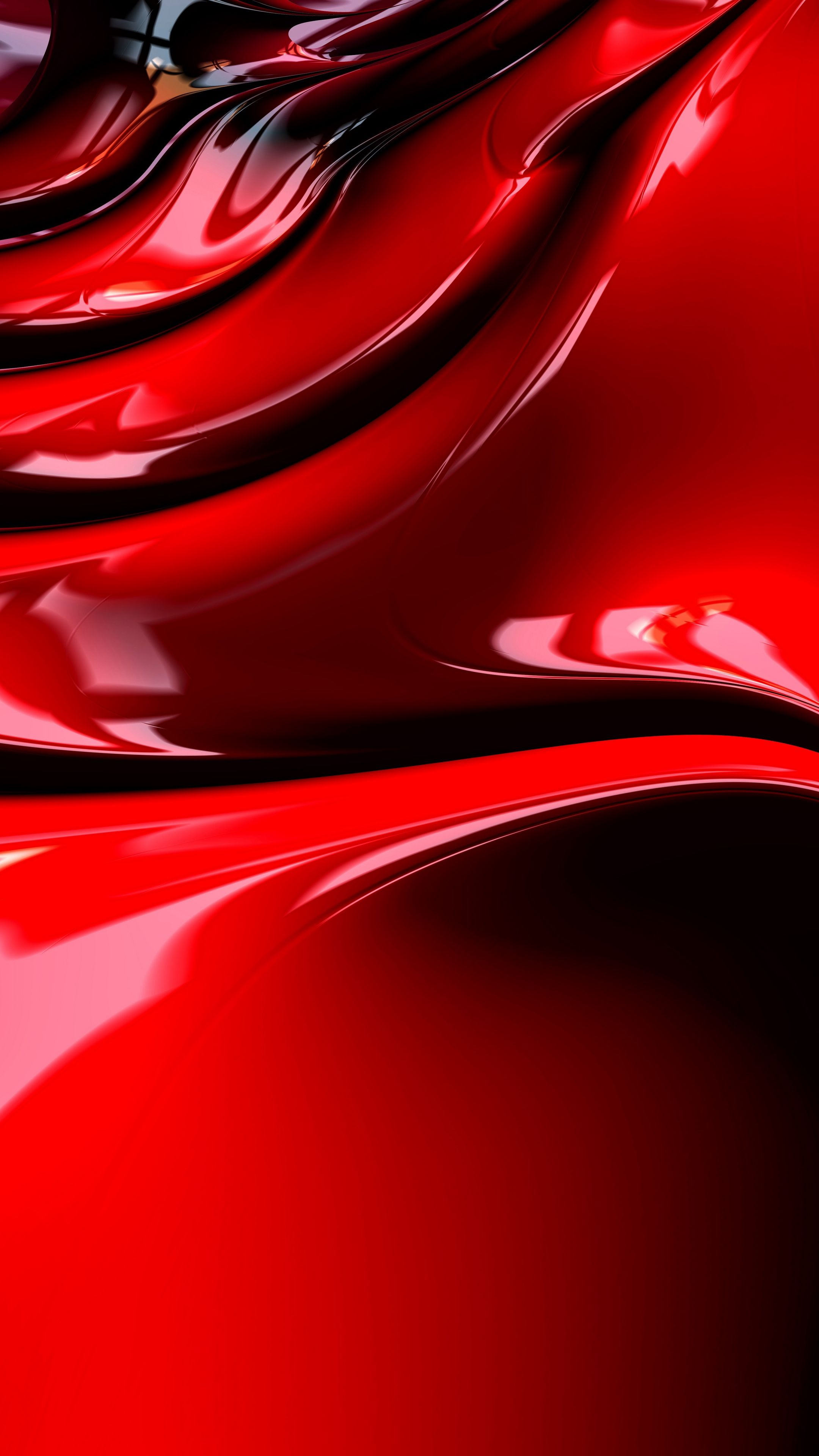 Abstract Fractal Structure Surface Shape Red Wallpapers