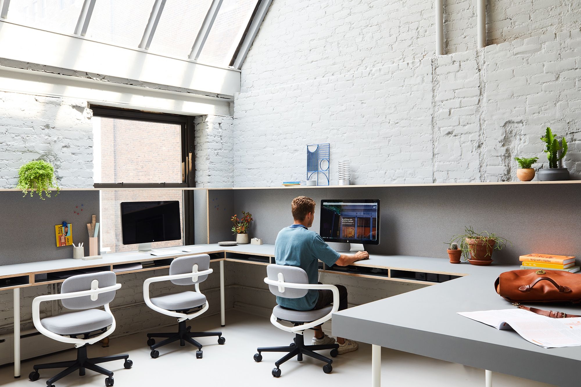 Objective Subject Offices is a minimal office space located in New