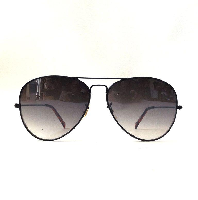 vintage 80s NOS classic aviator sunglasses silver metal frame sun glasses