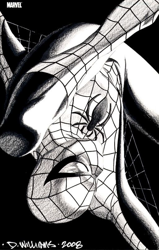 David Williams Marvel ICON Spider-Man Comic Art