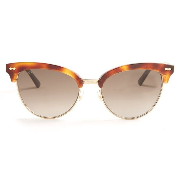 5cfed1b7884 Gucci Cat-eye half-frame sunglasses ( 355) ❤ liked on Polyvore featuring  accessories