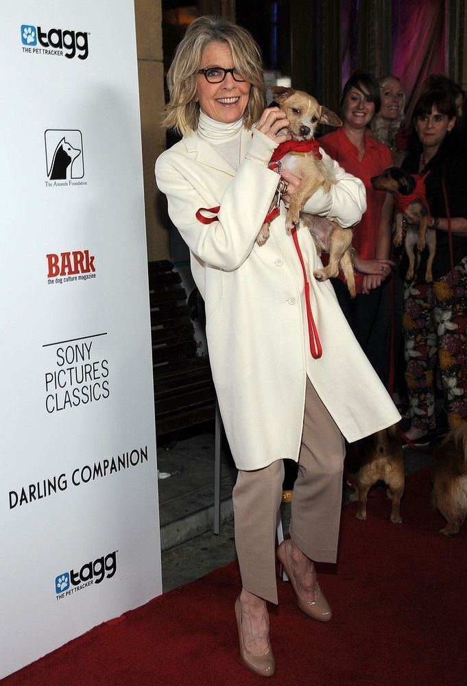 Diane Keaton is living proof that a white shirt can look chic with anything and can be worn to any occasion no matter how formal!