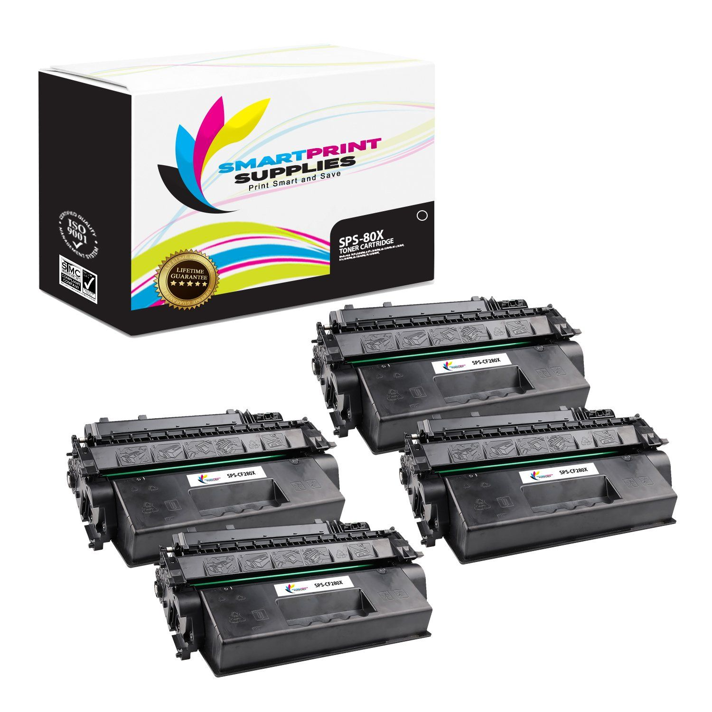 4 Pack Hp 80x Cf280x Replacement Black High Yield Toner Cartridge Toner Cartridge Toner Cartridges
