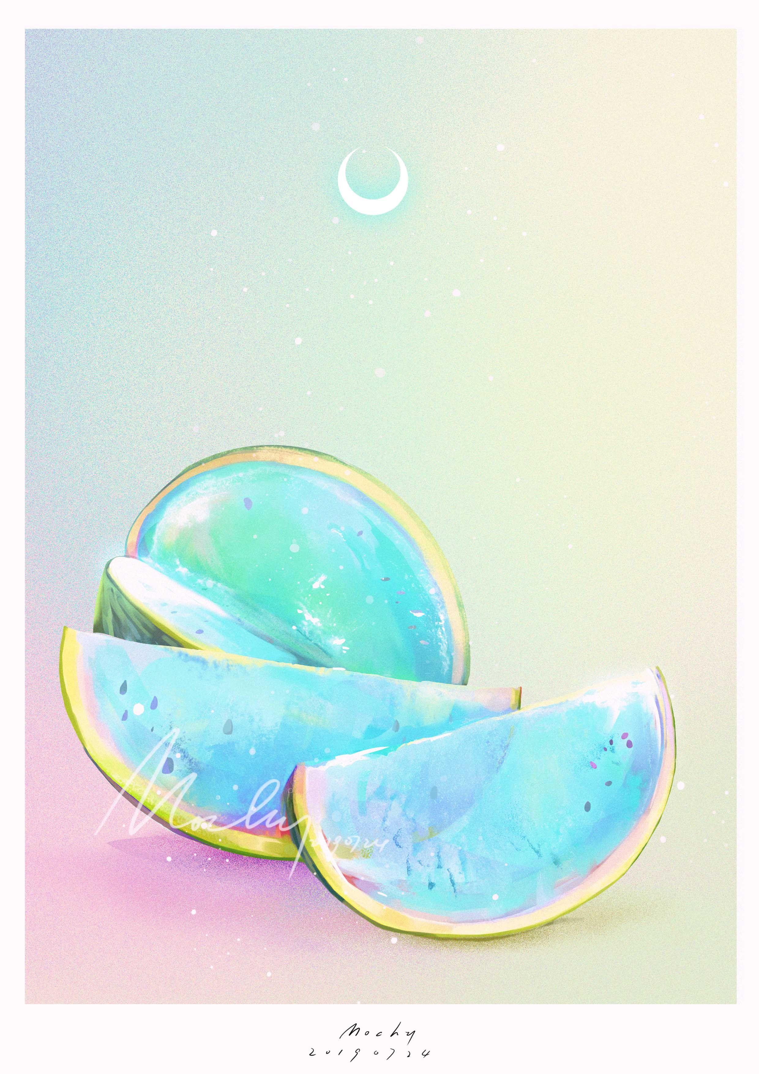 【静谧 月光】3_mochy__插画师作品_涂鸦王国gracg.com