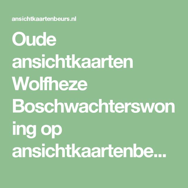 Oude ansichtkaarten Wolfheze Boschwachterswoning op ansichtkaartenbeurs.nl