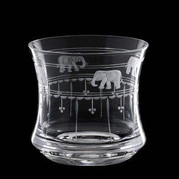 Grehom Crystal Whisky Glass - Elephant & Olives; Hand Etched Whisky Glasses; Mouth Blown Crystal Glasses; Beautiful Gift: Amazon.co.uk: Kitc...